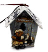 BOYD'S ALVIN - THE ELFBEARY WORKSHOP BIRDHOUSE ORNAMENT