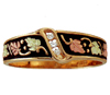 BLACK HILLS GOLD ANTIQUED MEN'S DIAMOND BAND
