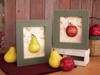 APPLE & PEAR FRAME - SET OF 2